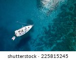 amazing view to boat  clear... | Shutterstock . vector #225815245