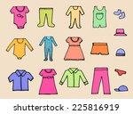 baby clothing and accessories... | Shutterstock .eps vector #225816919