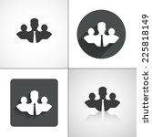 business team icons. set... | Shutterstock .eps vector #225818149
