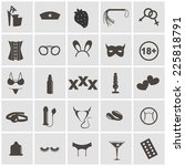 sex icons set  symbol xxx  | Shutterstock .eps vector #225818791