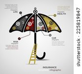 insurance concept infographic... | Shutterstock .eps vector #225819847