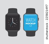 watch mock up v1   Shutterstock .eps vector #225821497