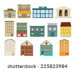 town and suburban buildings... | Shutterstock .eps vector #225823984