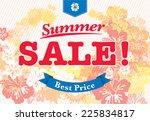 summer sale   summer sale icon  ... | Shutterstock .eps vector #225834817