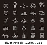 transport icons | Shutterstock .eps vector #225837211