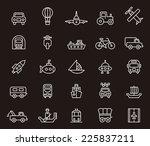 transport icons | Shutterstock .eps vector #225837211