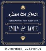vintage style invitation for... | Shutterstock .eps vector #225845401