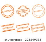 saturday stamps | Shutterstock .eps vector #225849385