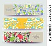 set of varicolored line... | Shutterstock .eps vector #225853981