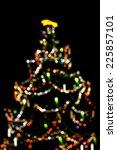 Colorful Huge Blurred Christma...
