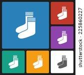 sock icon  | Shutterstock .eps vector #225860227