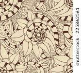 seamless vector pattern. floral ... | Shutterstock .eps vector #225862561