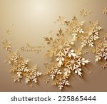 abstract  golden snowflakes | Shutterstock .eps vector #225865444