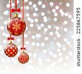 Christmas Balls On Bokeh...