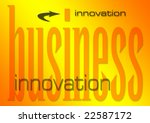 business innovation illustration on a flaming background (part of set on similar business themes) - stock photo