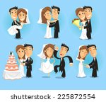 bride and groom at their... | Shutterstock .eps vector #225872554