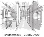 sketch of interior | Shutterstock .eps vector #225872929