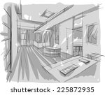 sketch of interior | Shutterstock .eps vector #225872935