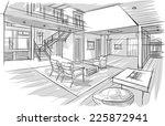 sketch of interior | Shutterstock .eps vector #225872941