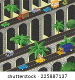 isometric vector road to the... | Shutterstock . vector #225887137