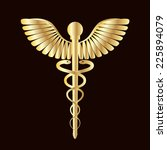 gold caduceus medical symbol as ... | Shutterstock .eps vector #225894079