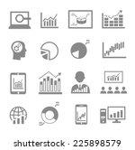 market analysis  diagrams icons ...