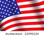 american flag | Shutterstock . vector #22590124