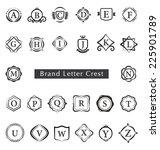 alphabet brand letters crest... | Shutterstock .eps vector #225901789
