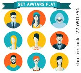 set of avatars for social... | Shutterstock .eps vector #225901795