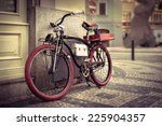 Vintage Bicycle At The City
