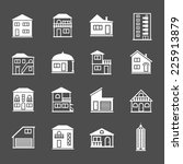 set of house icons. real estate ... | Shutterstock . vector #225913879