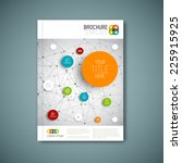 modern vector abstract brochure ... | Shutterstock .eps vector #225915925