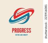 progress   vector business logo ... | Shutterstock .eps vector #225916081