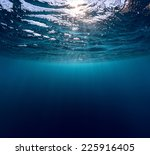 underwater shot of sea surface... | Shutterstock . vector #225916405