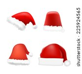 set of santa hat. vector | Shutterstock .eps vector #225924565