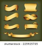 several vintage vector banner... | Shutterstock .eps vector #225925735