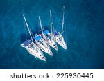 amazing view to yacht group and ... | Shutterstock . vector #225930445