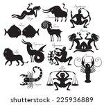 vector set of zodiac signs in... | Shutterstock .eps vector #225936889