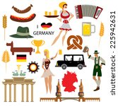 germany icon collection  german ... | Shutterstock .eps vector #225942631