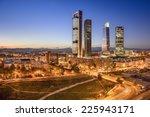 madrid  spain financial... | Shutterstock . vector #225943171
