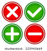 checkmark and cross and plus... | Shutterstock .eps vector #225943669