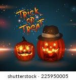 halloween hipster vector... | Shutterstock .eps vector #225950005