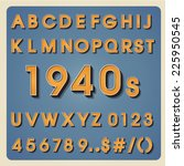 vintage alphabet. retro type... | Shutterstock .eps vector #225950545