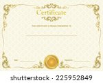 old antique gold frame stucco... | Shutterstock . vector #225952849