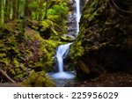 lupin waterfalls in strathcona... | Shutterstock . vector #225956029