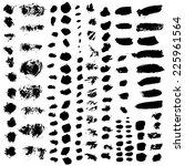 vector set of various brush... | Shutterstock .eps vector #225961564