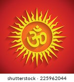 spiritual om design with...   Shutterstock .eps vector #225962044