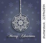 christmas ornament design ... | Shutterstock .eps vector #225962854