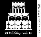 vector wedding cake for wedding ... | Shutterstock .eps vector #225962941