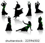 Belly Dance. Silhouettes Of...